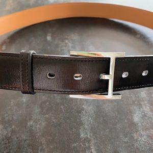 Hermès James men's belt in black box calfskin